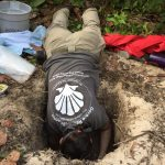 Dawn Digs a hole in Sand